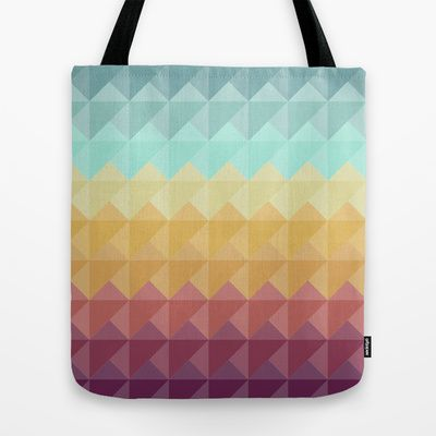 Retro Triangles Tote Bag by Refreshdesign