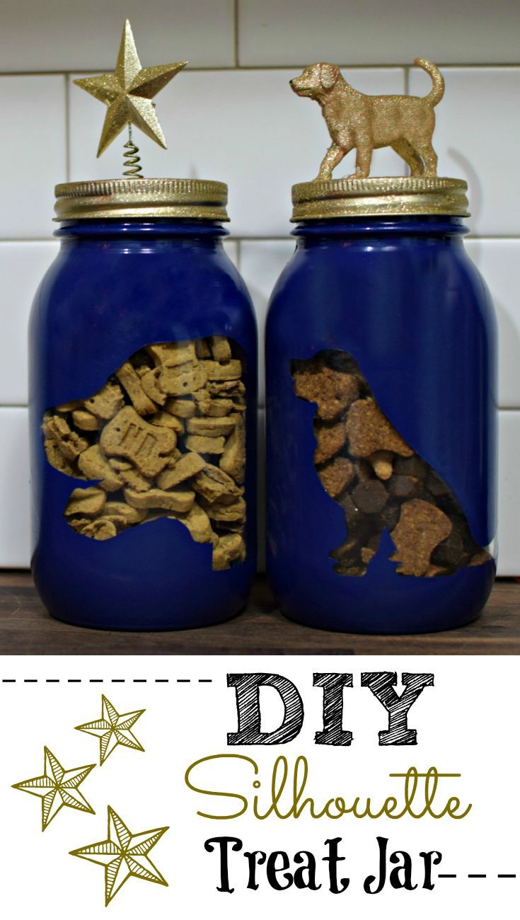 Looking for a great gift for the dog lover in your life? Fun and attractive silhouette treat jars...these are great!!!