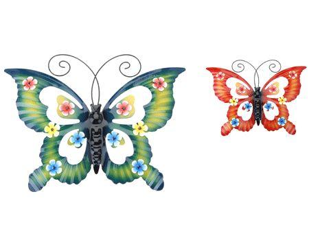 Luxe decoratie vlinder 50 x 38 cm gekleurde vlinder van for Decoratie vlinders voor in de tuin