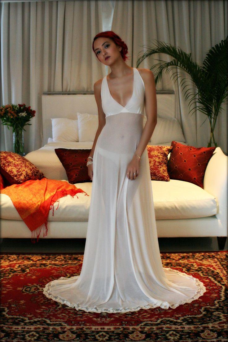 Ropa interior de luna de miel de encaje francés de malla novia