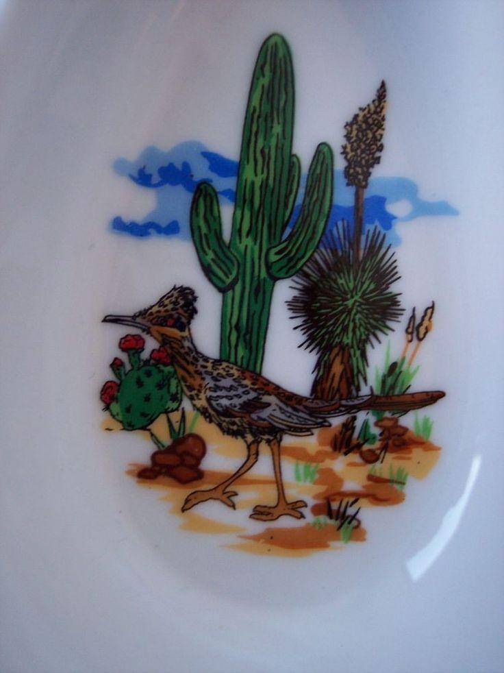 Spoon Rest Cactus Roadrunner Bird Scene Road Runner Southwest Southwestern