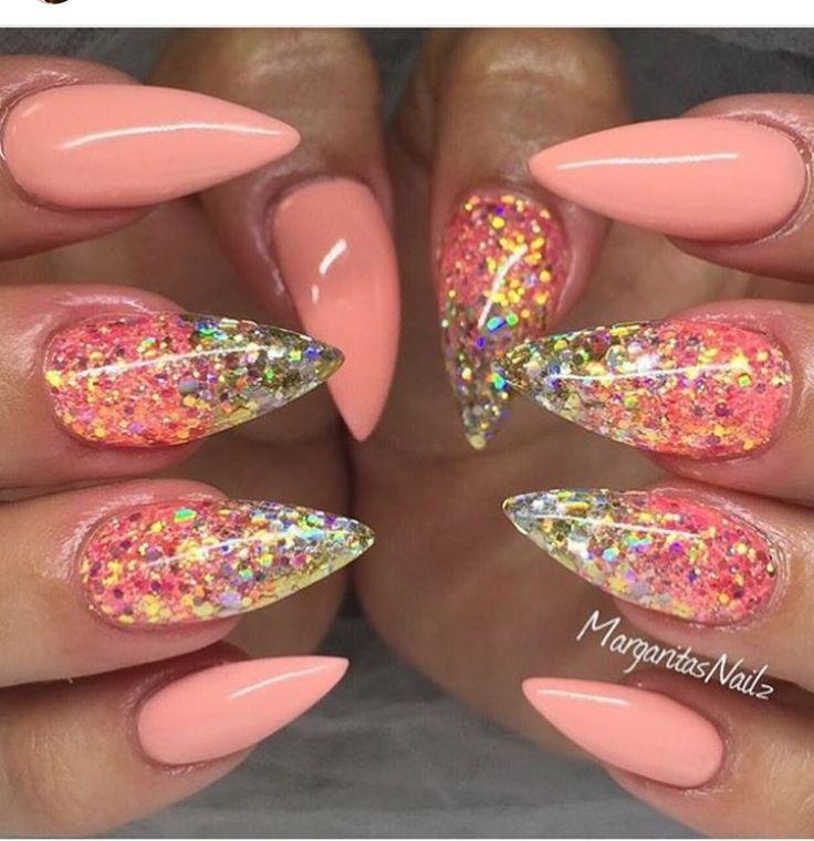 The 25+ best Coral nail designs ideas on Pinterest | Summer beach nails,  Beach nail designs and Beach nails - The 25+ Best Coral Nail Designs Ideas On Pinterest Summer Beach