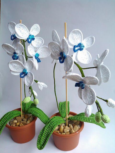 zsutta: Ezúttal kék Crochet orchid