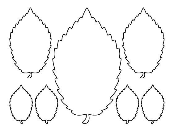 Elm leaf pattern. Use the printable outline for crafts