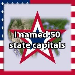 Interesting brain teaser game to name the state capitals. I named them all