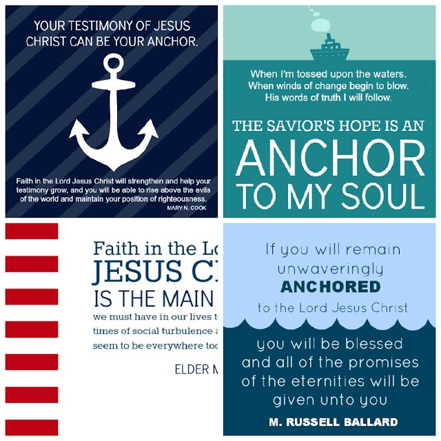 What Does it Mean to Have Faith in Jesus Christ? An anchor to me is a cross and a smile. Through Christs atonement we can have eternal happiness.