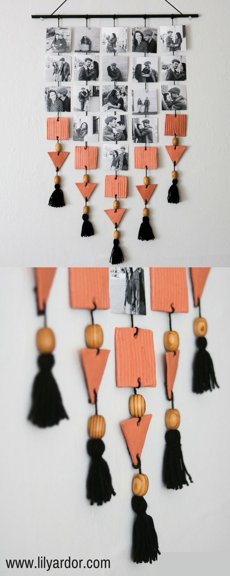 EASY DIY picture Display!! With clay beads!