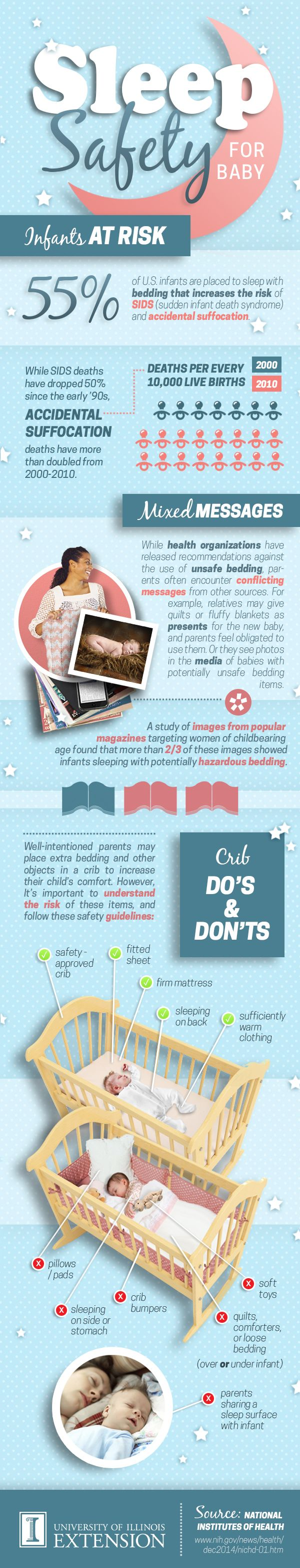 Sleep safety tips for infants.