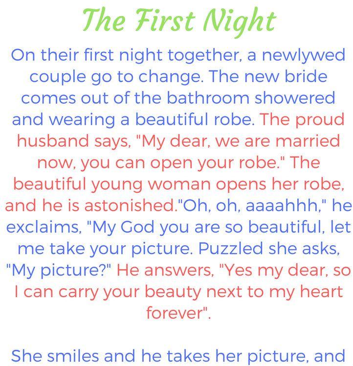 The First Wedding Night Hilarious Joke