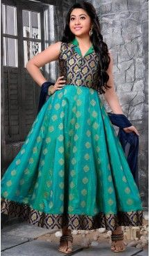 Sky Blue Color Banarasi Jecard Party Wear Girls Salwar Kameez | 11142445 Follow us @heenastyle #design #designer #fashion #dresses #girlsdresses #children #childrensapparel #indiella #wedding #girlsfashion #girl #girlsstyle #girlsparty #partydress #kids #kidsstyle #kidsfashion #dress #designerkidz #longsleevedress #onlineshopping #girlssummerdress #girlswear #buyhandcrafted #buybritishbrands #heenastyle #girlssalwarkameez #kidssalwarkameez