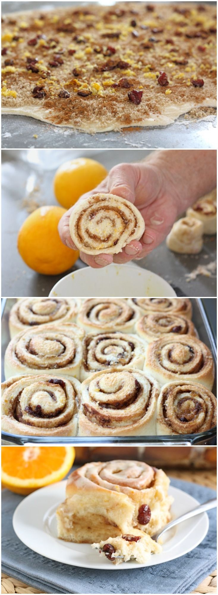 Cranberry Orange Cinnamon Rolls Recipe on twopeasandtheirpod.com The BEST cinnamon roll recipe and perfect for the holidays!