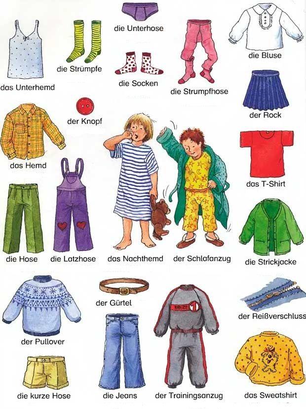 25 best Schule - DAZ - Kleidung images on Pinterest | German ...