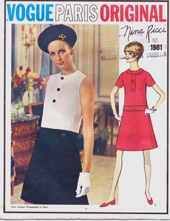 Vintage 1960s Vogue Paris Original Pattern 1981 by CloesCloset, $65.00