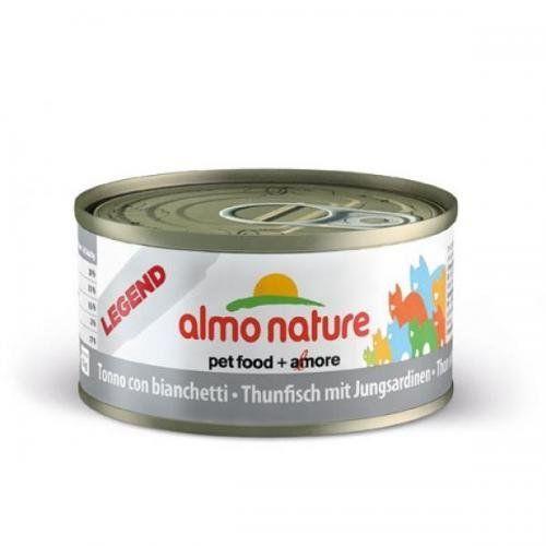 Aus der Kategorie Nassfutter  gibt es, zum Preis von EUR 49,95  <br /><br />Almo Nature Legend - Thunfisch mit Jungsardinen <br />- besteht einzig und allein aus puren Zutaten höchster Qualität<br /><br />Das Ergänzungsfuttermittel ist natürlich reich an edlen Proteinen, Nährstoffen und wertvollen Omega-3- und Omega-6-Fettsäuren dank der Verwendung von frisch verarbeitetem Thunfisch und Jungsardinen. <br /><br />Almo Nature - die Garantie für vollkommen naturbelassene Katzennahrung!<br />Die…
