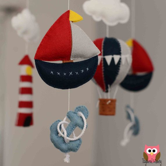 Nautical Mobile - Custom Baby Mobile (not ready made) - Ships in 3-4 Weeks