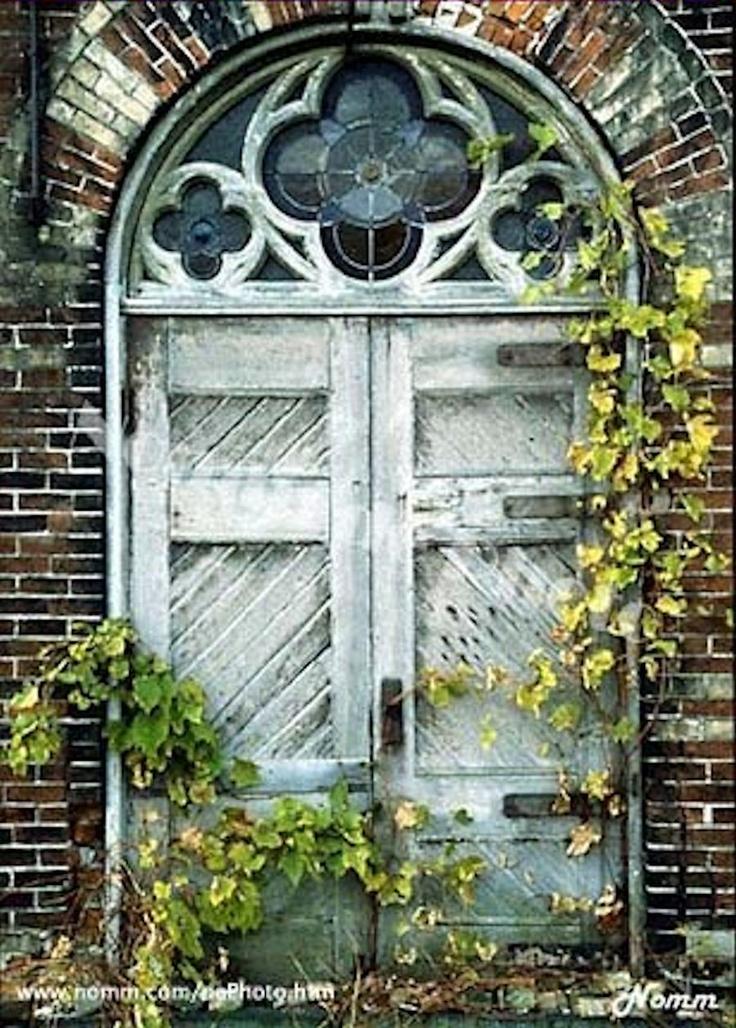 ...The Doors, Church Doors, Old Church, Gardens Gates, Exterior Doors, Wooden Doors, Old Doors, Stained Glasses, Abandoned Church