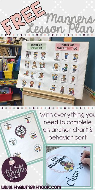 A FREE lesson plan and activity set for teaching and reinforcing manners within your classroom. Perfect for ANY time of the year when you need the extra help :)      The Wright Nook: Manners - Classroom Management Monday #2
