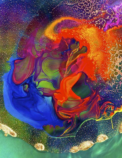 paint glitter rainbow