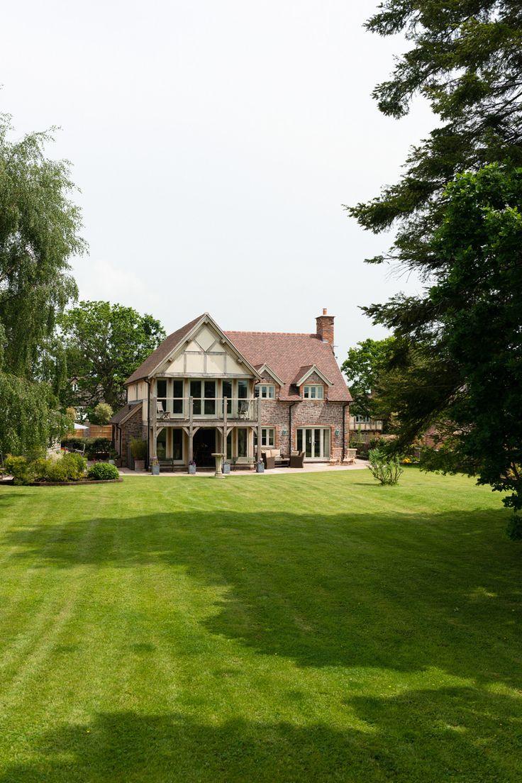 Border Oak - oak framed farmhouse with large glass balcony