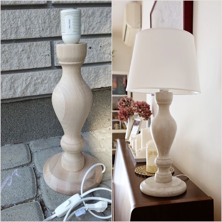 Lamp before-after with Countrey Grey and Old White