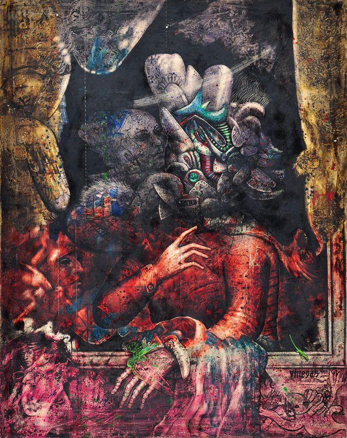 Personaje Fantástico //  Armando Villegas // Colombia // Oleo sobre lienzo // 1986 // Colección Fundación Museo Bolivariano de Arte Contemporáneo