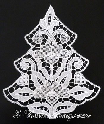 10616 Free standing lace Christmas tree window decoration