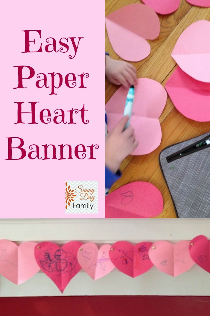 Sunny Day Family: Easy Paper Heart Banner Craft