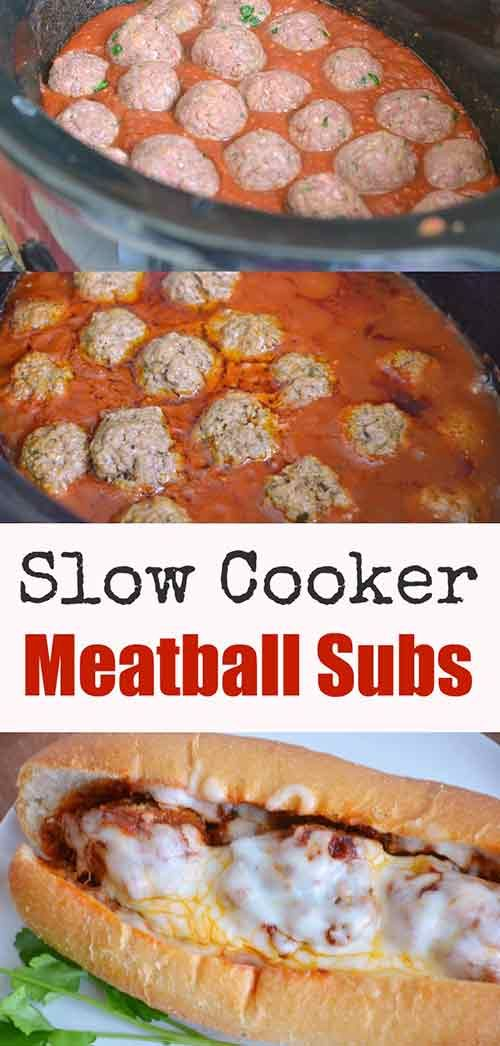 Slow Cooker Meatball Subs Recipe