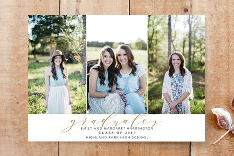 Scripted Simplicity Graduation Photo Cards by Annie Montgomery at minted.com