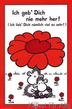 Art Print Geb' Dich nie mehr her! by Sheepworld