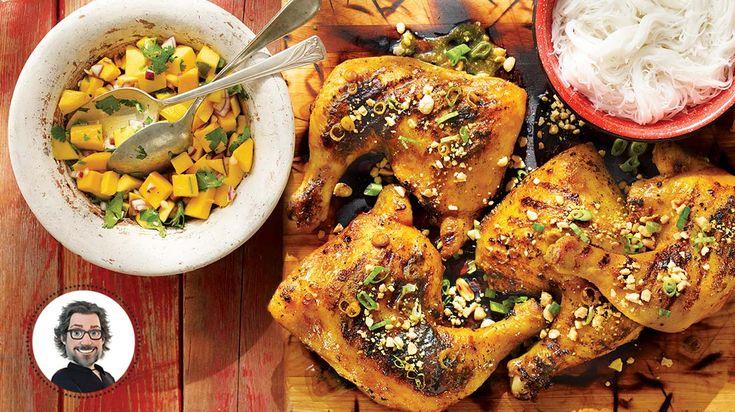 Cuisses de poulet grillées à la citronnelle et aux arachides #IGA #Recettes #BBQ