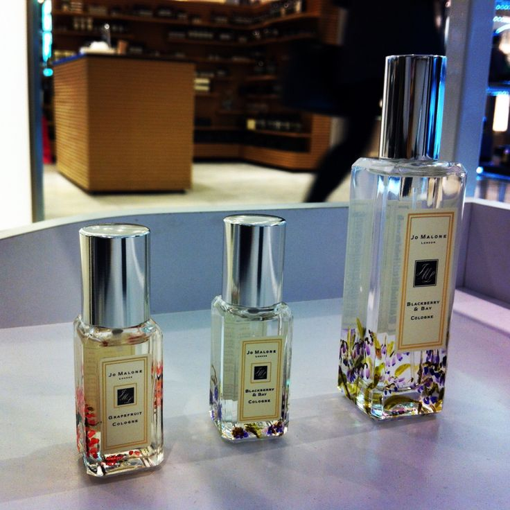 A trio of Jo Malone colognes are hand painted.