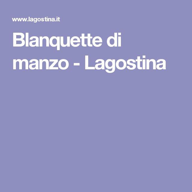 Blanquette di manzo - Lagostina