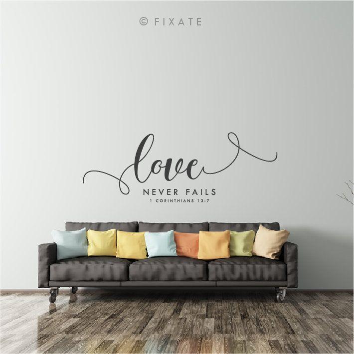 bible wall sticker quote bible verse love never fails bible