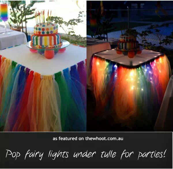 Tule and fairy lights