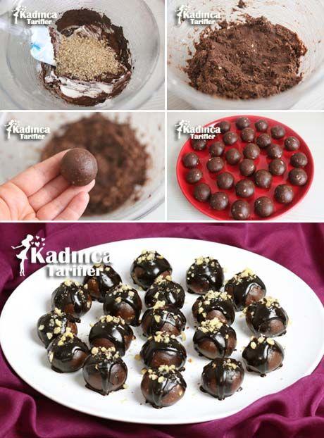 Çikolata Soslu Rokoko Topları Tarifi