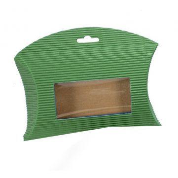 Cajita Sobre Microcanal Verde, perfecta esta cajita que permite ver el contenido, gracias a su ventana transparente.  #diy  #packaging