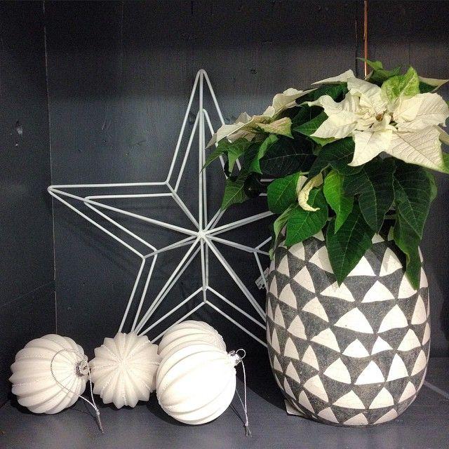 Julfint hemma! Stjärna 149kr. Vas 369kr. Julkula 49kr/st. Vas & stjärna finns på R.O.O.M. Julkulor finns både på R.O.O.M. och Selected by R.O.O.M. #roombutiken #selectedbyroom