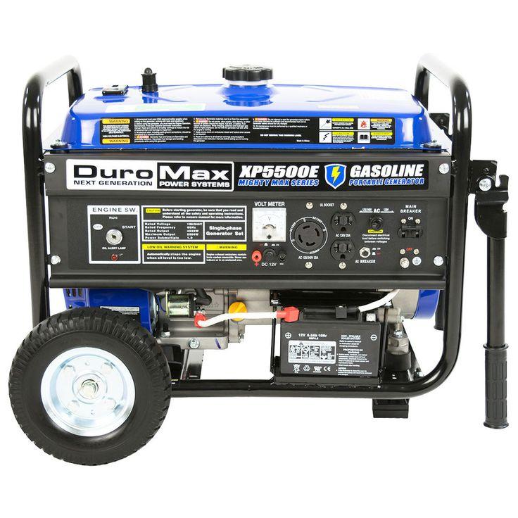 DuroMax XP5500E 5,500 Watt 7.5 HP Portable Electric Start Gas Generator #DUROMAX