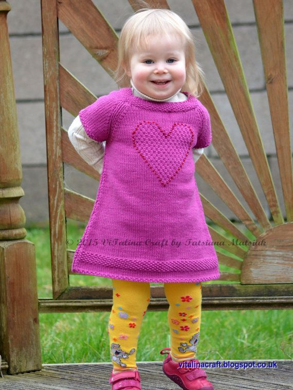 Knitting Pattern  Brilliant Heart Tunic Baby and Child