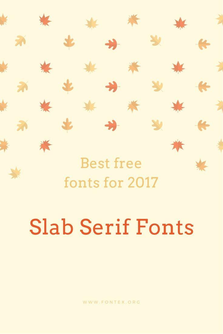 #slabserif #fonts #download - Best slab serif fonts list for free download in 2017: What are Slab Serif Fonts? A slab serif font style is one that exudes ... #font #typography #design #inspiration #free via @thefontex