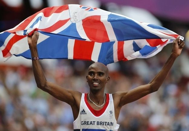 Mo Farah - I admire him so much. He doesn't brag about success, he's always calm and only gets angry for a reason and doesn't take himself to seriously!