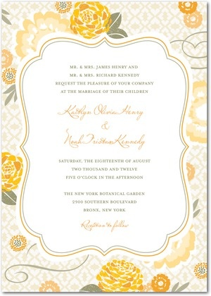 LOVE this invite - GREAT color palette.