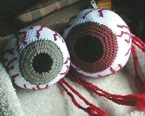 crochet bloodshot eyeball hackey sack pattern for sale on etsy 5