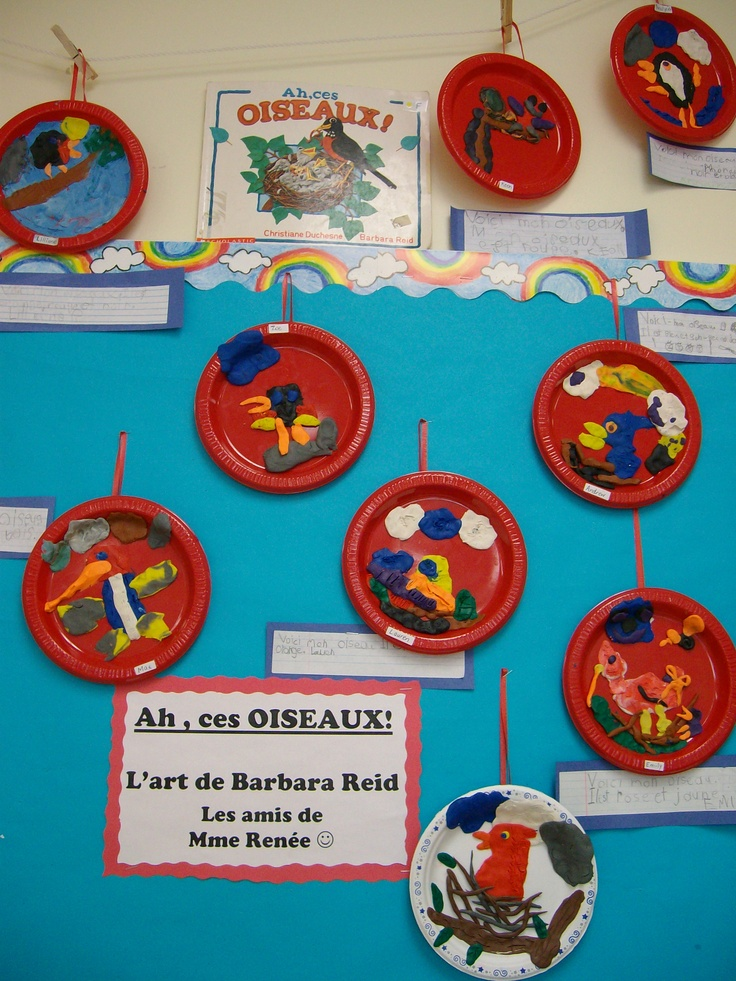 Plasticine Art like Barbara Reid - made in small plastic plates :)