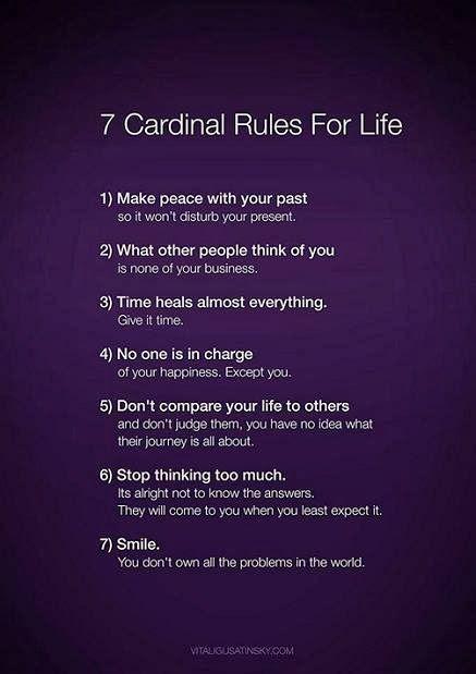 7 regels om het leven makkelijker en leuker te maken