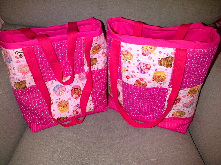 2 Quilted Tote Bags Video Tutorial Available On Youtube