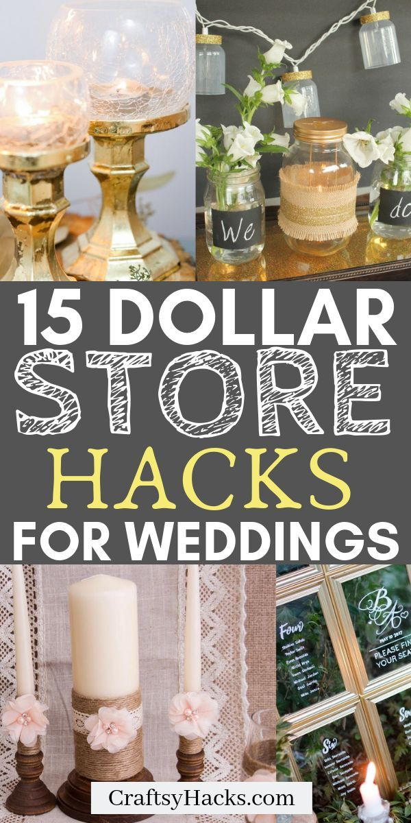 Need a dollar store craft arrangement for your wed…