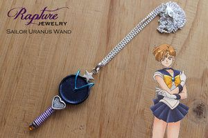 Sailor Uranus Wand Pendant Inspired by Sailor Moon