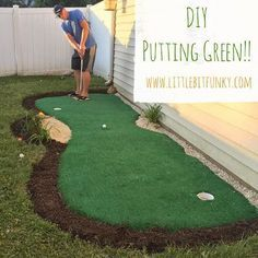 A putting green in the back yard